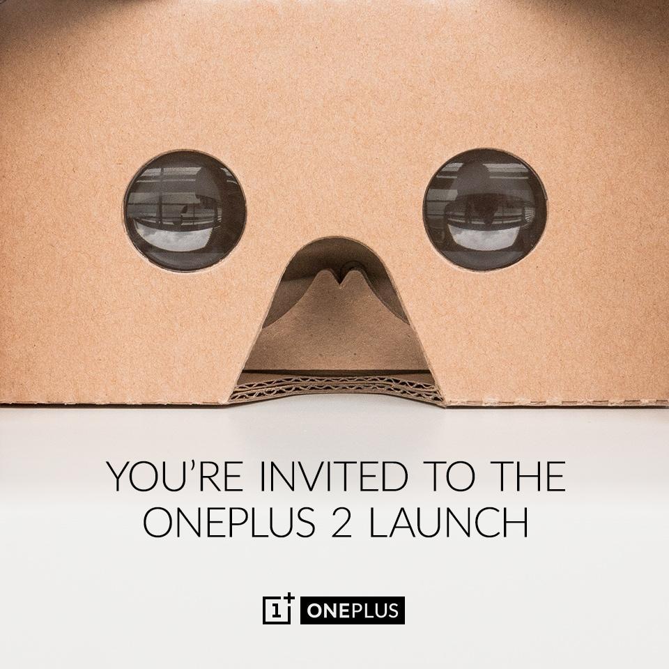 OnePlus regala 1.000 Cardboard per assistere al lancio di OnePlus 2