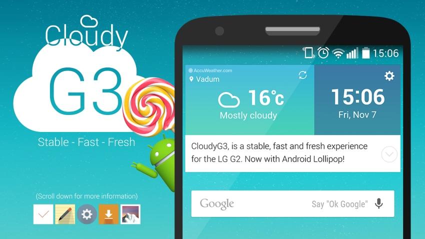 CloudyG2 è la ROM per LG G2 con Lollipop e interfaccia di G4 (guida)