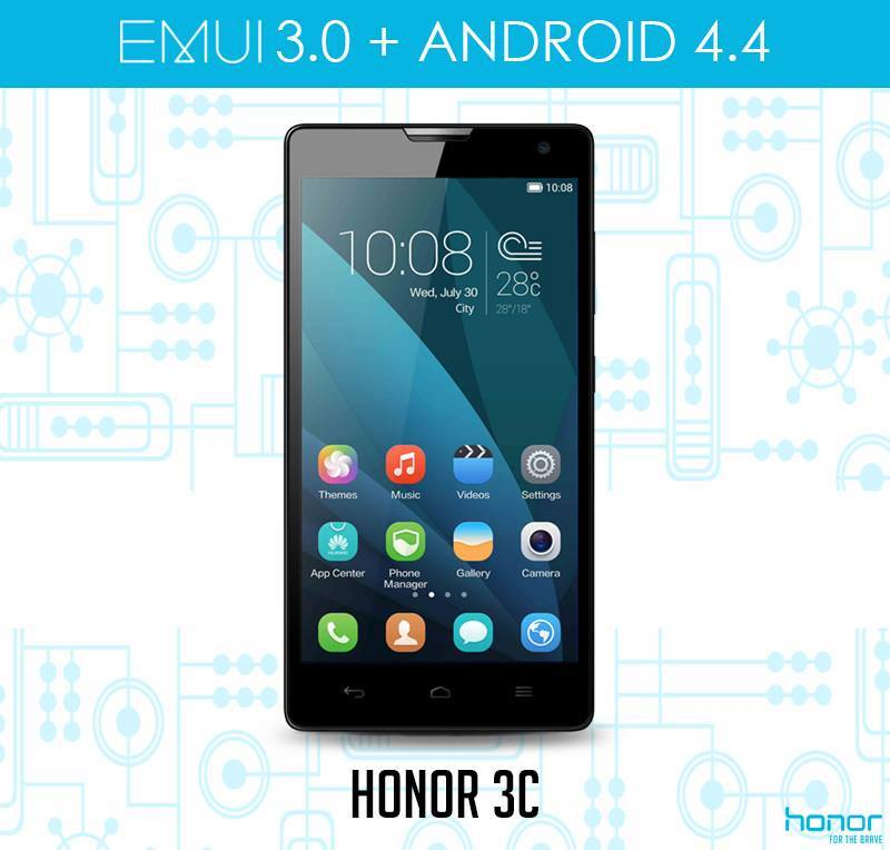 Honor 3C riceve Android 4.4 KitKat con EMUI 3.0