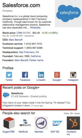 knowledge graph google plus