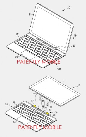 notebook tablet brevetto samsung