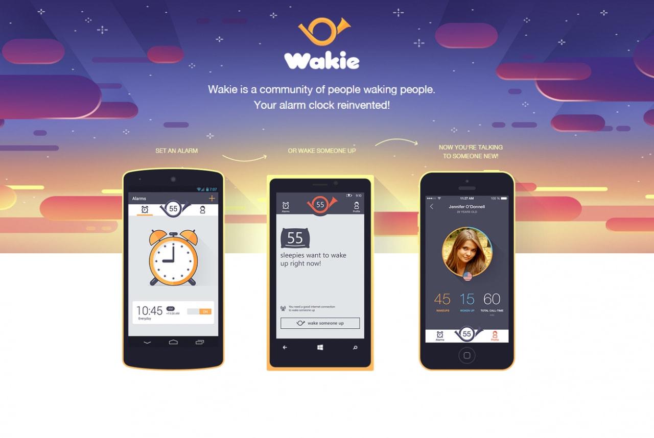 Come svegliarsi con il saluto di uno sconosciuto: Wakie (foto)