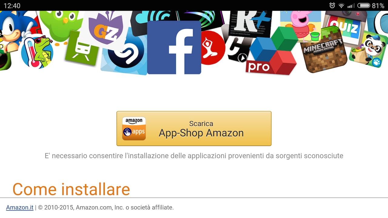 Amazon ci ripensa e rende nuovamente disponibile l'App-Shop