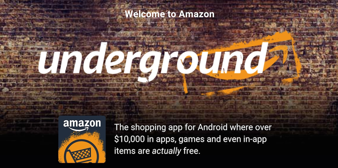 Amazon Underground: il super-store che regala 10.000$ di app, giochi e contenuti, per ora solo USA