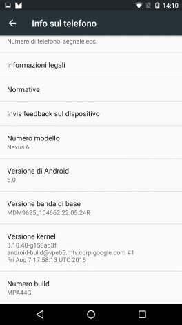 Android 6.0 Marshmallow developer preview 3 screenshot - 14