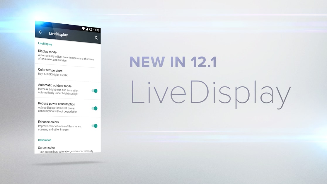 Cyanogen OS LiveDisplay