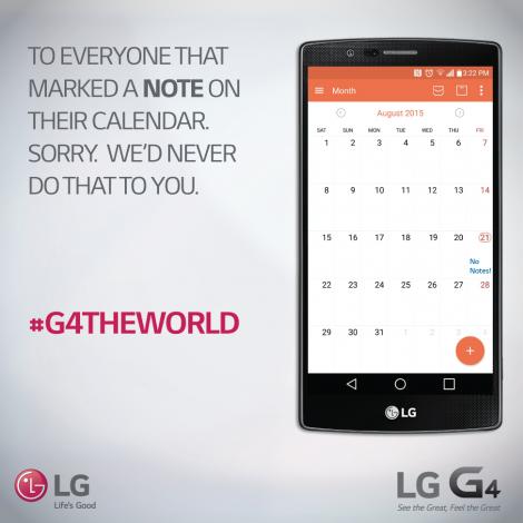 LG G4 per tutti non come note 5