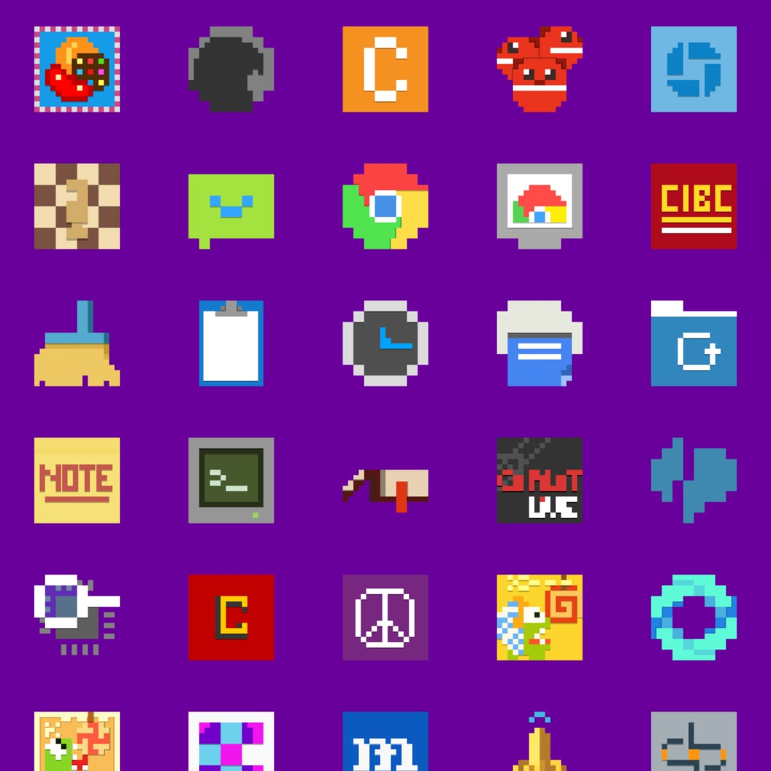 Simply 8 bit icon pack (head)