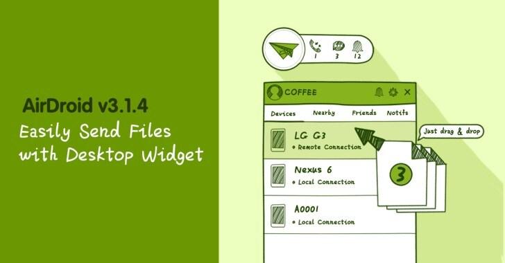 AirDroid: widget desktop, ricerca SMS ed altre novità nell'ultimo aggiornamento