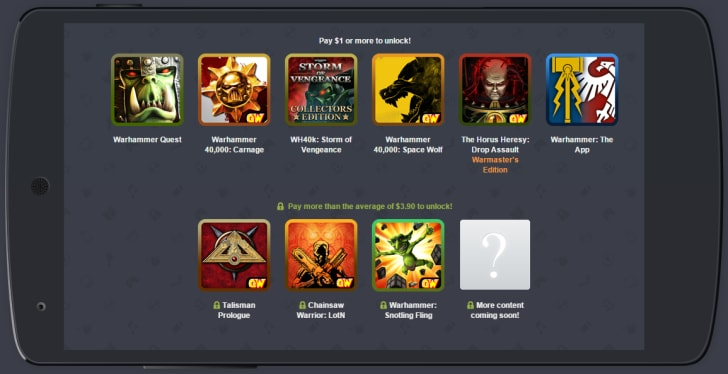 humble bundle games workshop