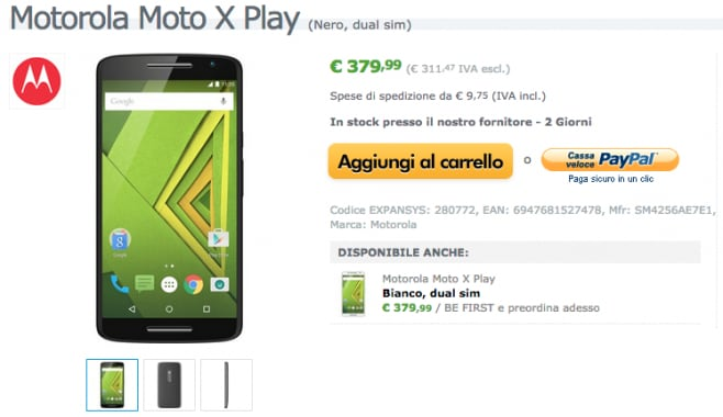 moto x play expansys