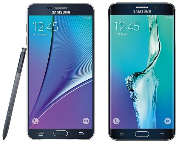 Samsung Galaxy Note 5 ed S6 edge+: due immagini delle schede tecniche complete