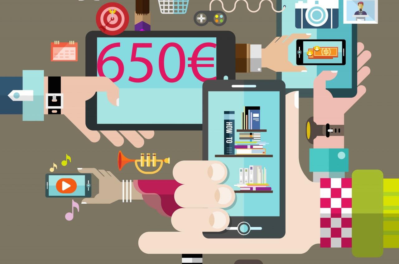 Offerte smartphone Android fino a 650€