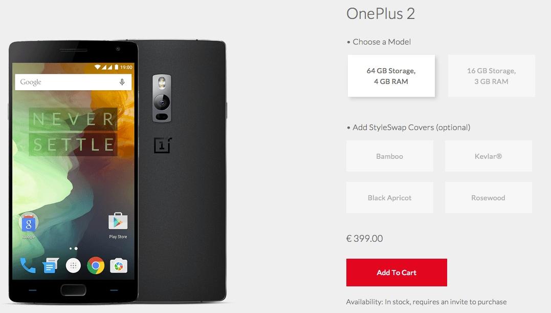 OnePlus 2 da 64 GB disponibile alla vendita in Italia, ma solo se avete un invito