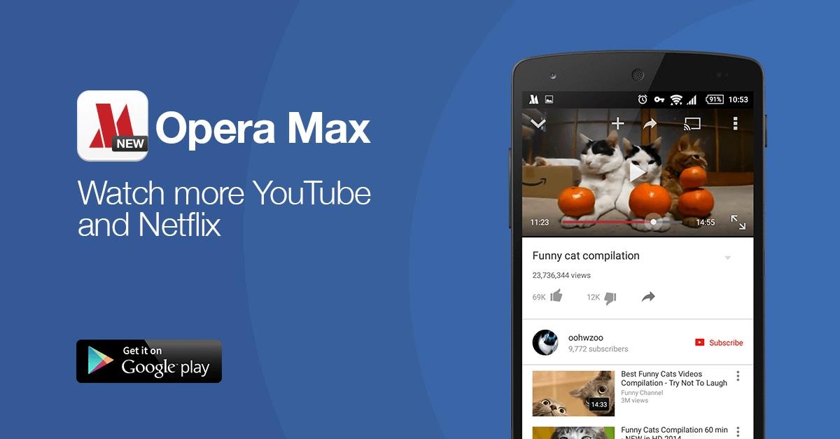 Opera Max vi farà risparmiare dati su YouTube e Netflix