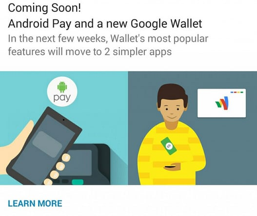 Android Pay - Google Wallet