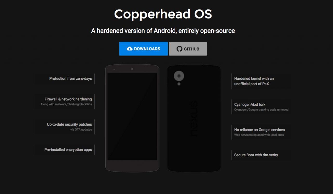 La prima alpha di CopperheadOS, il firmware open-source sicuro
