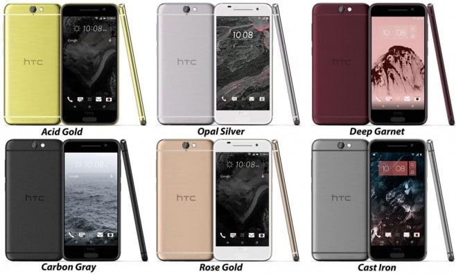 HTC One A9 color options