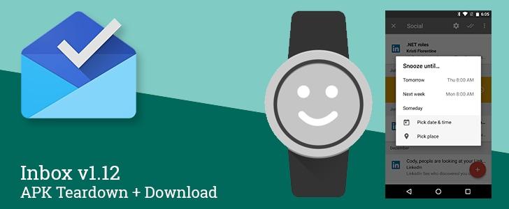 Inbox 1.2 postponi app android wear tag contatti