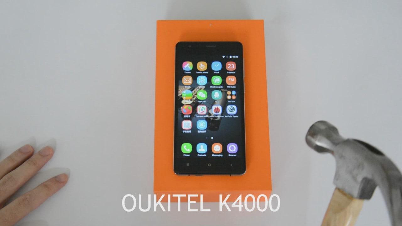 Oukitel K4000 promette una settimana di autonomia e di resistere a martellate e pneumatici (foto e video)