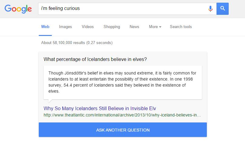 """""""Mi sento curioso"""": una nuova funzione di Google vi racconterà aneddoti interessanti"""