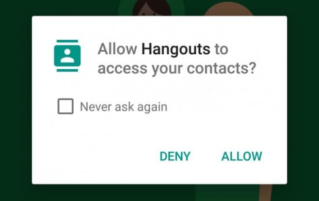 hangouts permessi