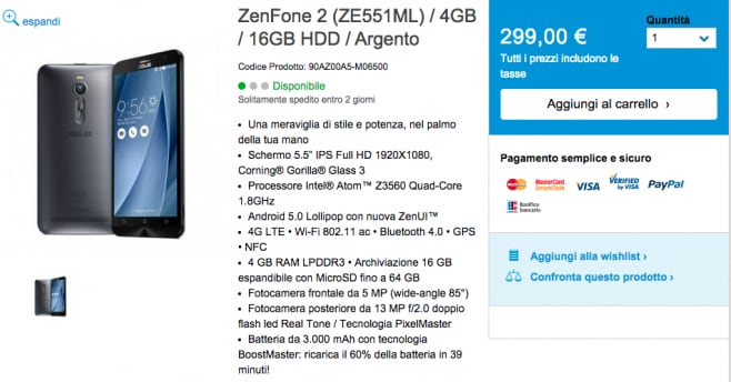zenfone 2 16 gb