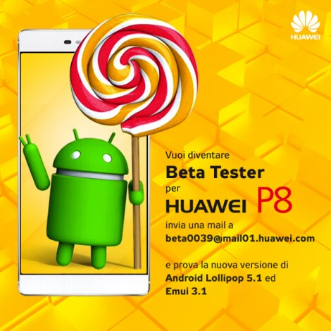 Beta test Huawei P8