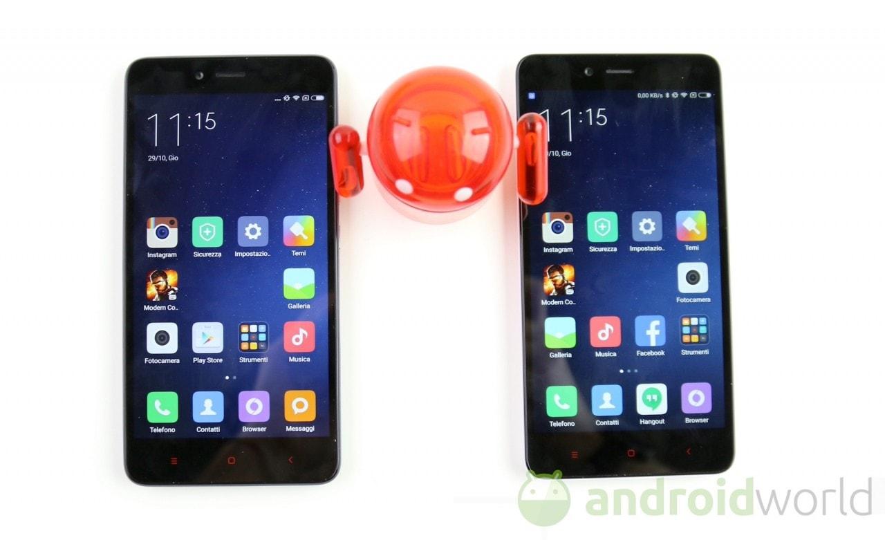 Confronto Xiaomi Redmi Note 2 - 1