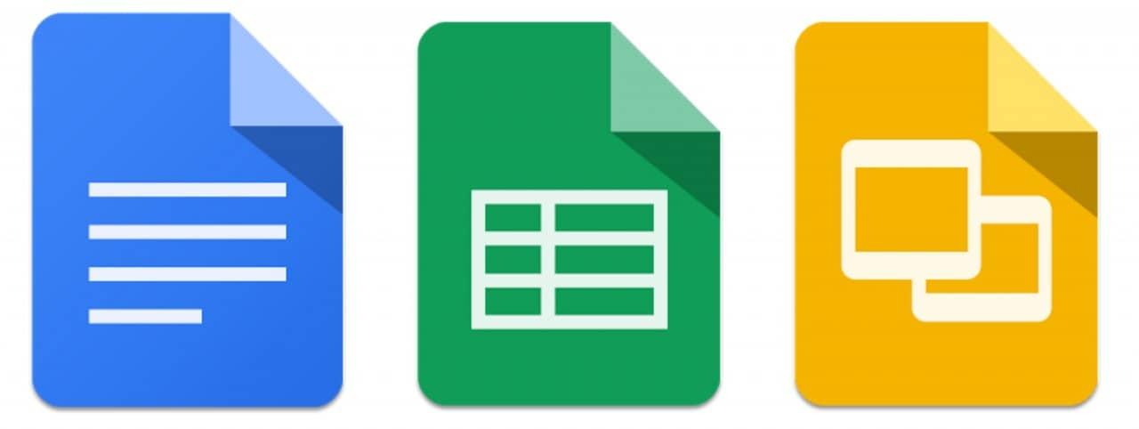 Documenti Presentazioni Fogli Google - Icone