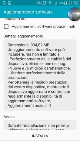 Galaxy S5 aggiornamento 5.0 - 1