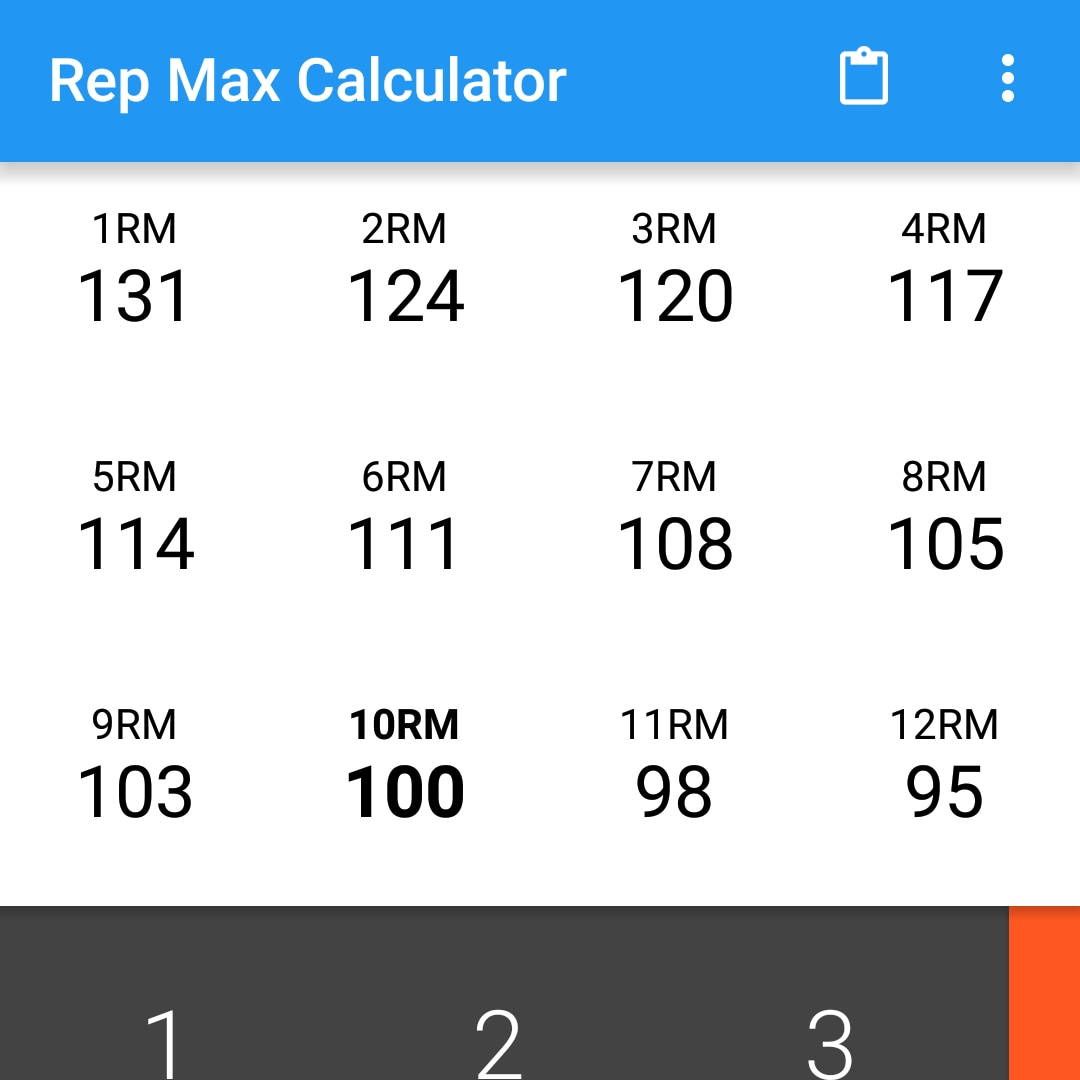 Rep Max Calculator (head)