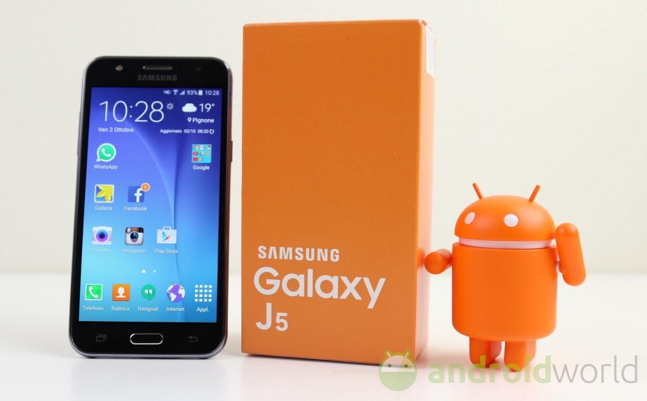 Samsung Galaxy J5 2015 (brand e no brand) si aggiorna a Marshmallow in Italia