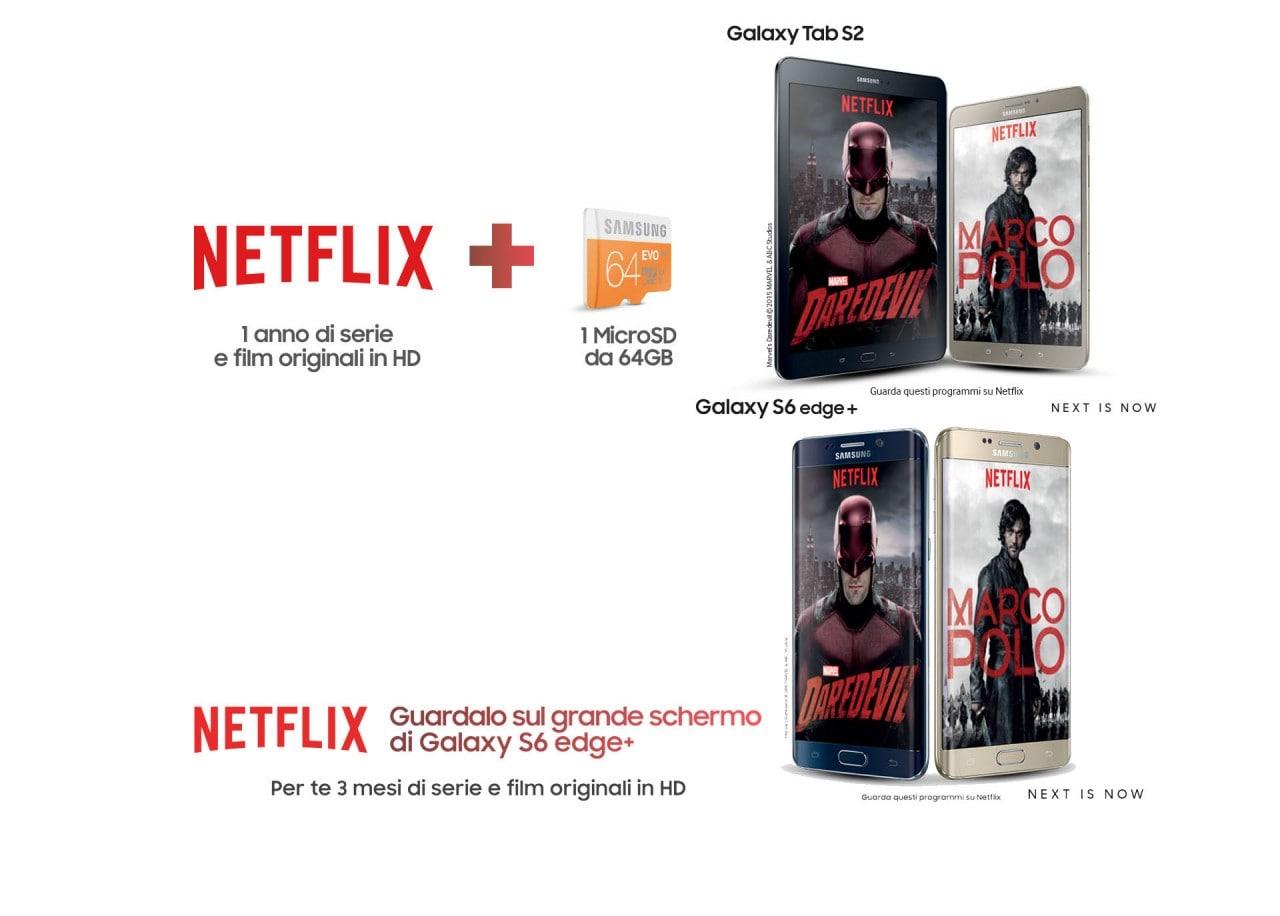 Samsung festeggia l'arrivo di Netflix in Italia regalandovi fino ad un anno di abbonamento
