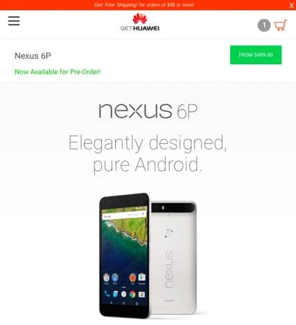 Huawei store Nexus 6P