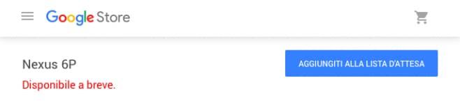 Google Store - lista d'attesa