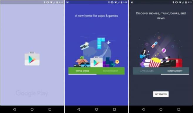 Play Store - Splashscreen