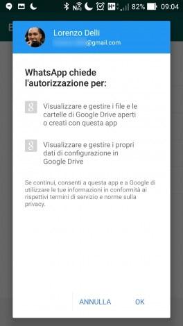 WhatsApp Backup Drive Stabile - 2