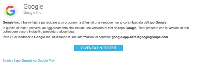 beta test google app