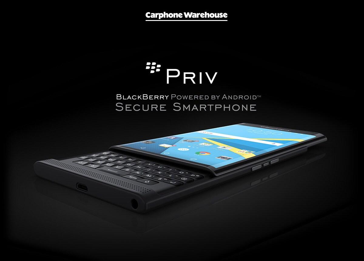 blackberry priv carphone warehouse