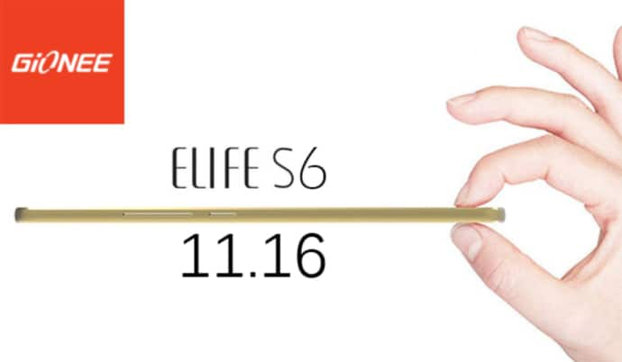 gionee elife s6 teaser