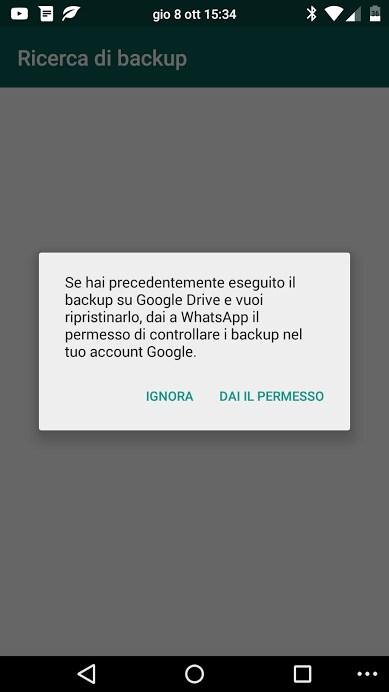 google drive backup whatsapp ripristino 1