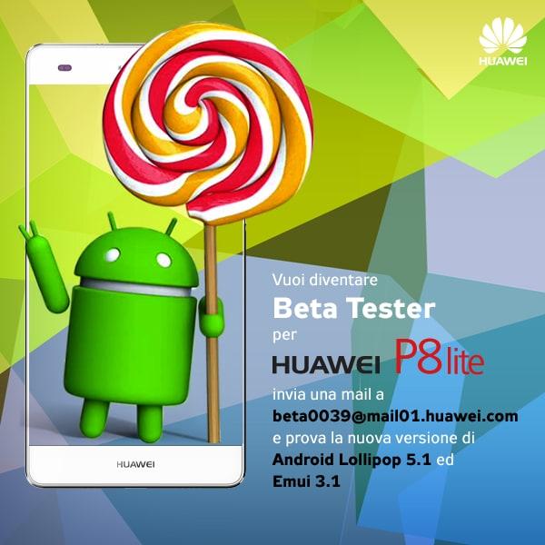 Huawei P8 Lite: beta test per l'aggiornamento ad Android 5 1