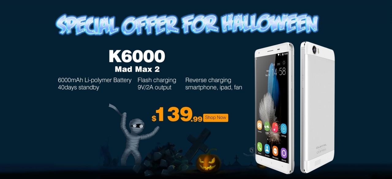 OUKITEL K6000: specifiche complete e pre-ordine dal 20 ottobre a 140$