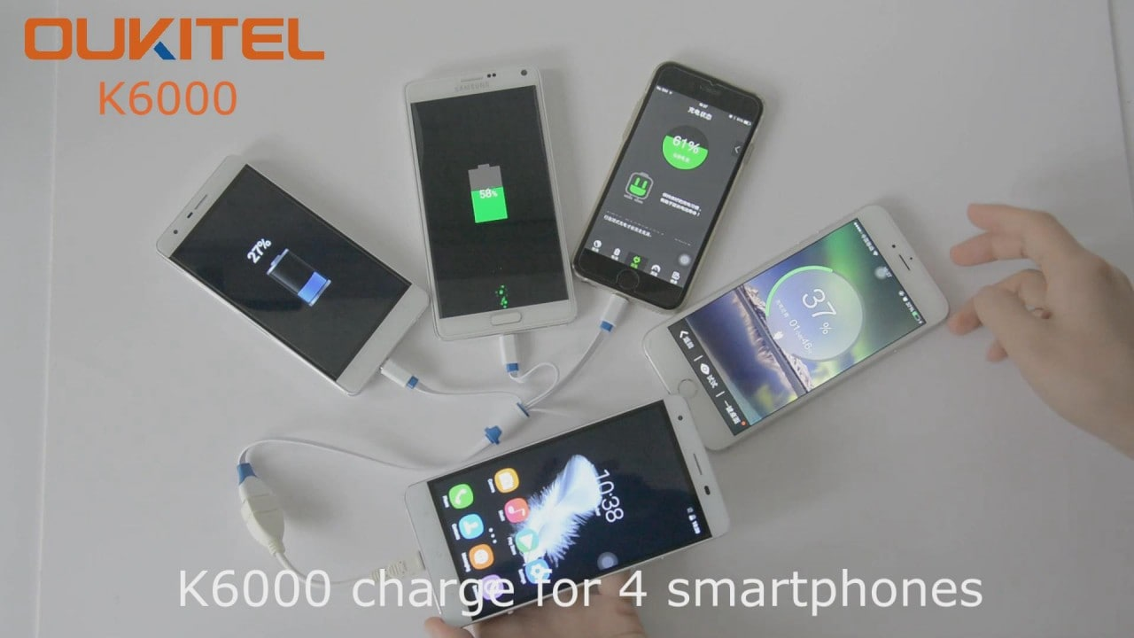 OUKITEL K6000 ha così tanta batteria che gli piace condividerla (video)