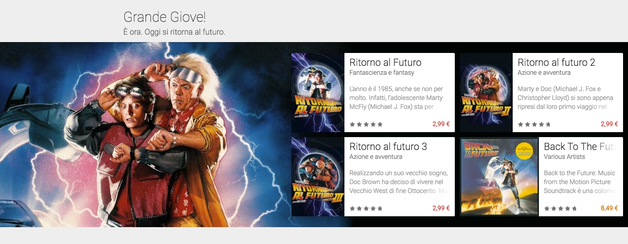 ritorno al futuro day google play