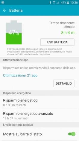 s6 edge plus ottimizzazione app