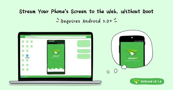 AirDroid: l'ultimo aggiornamento porta lo schermo del vostro smartphone su browser e Mac