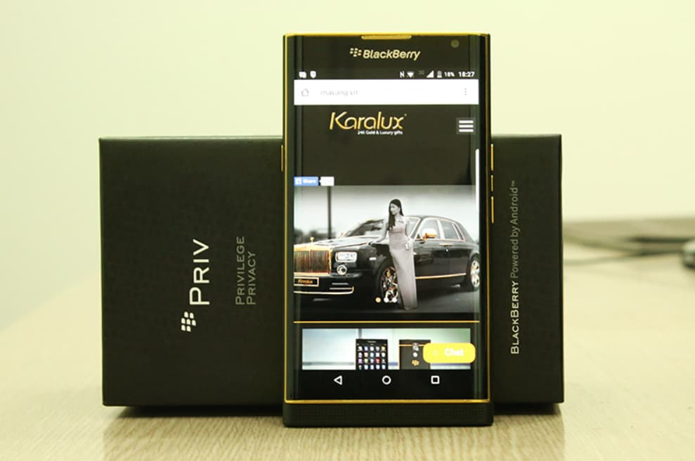BlackBerry Priv oro 24 carati 1