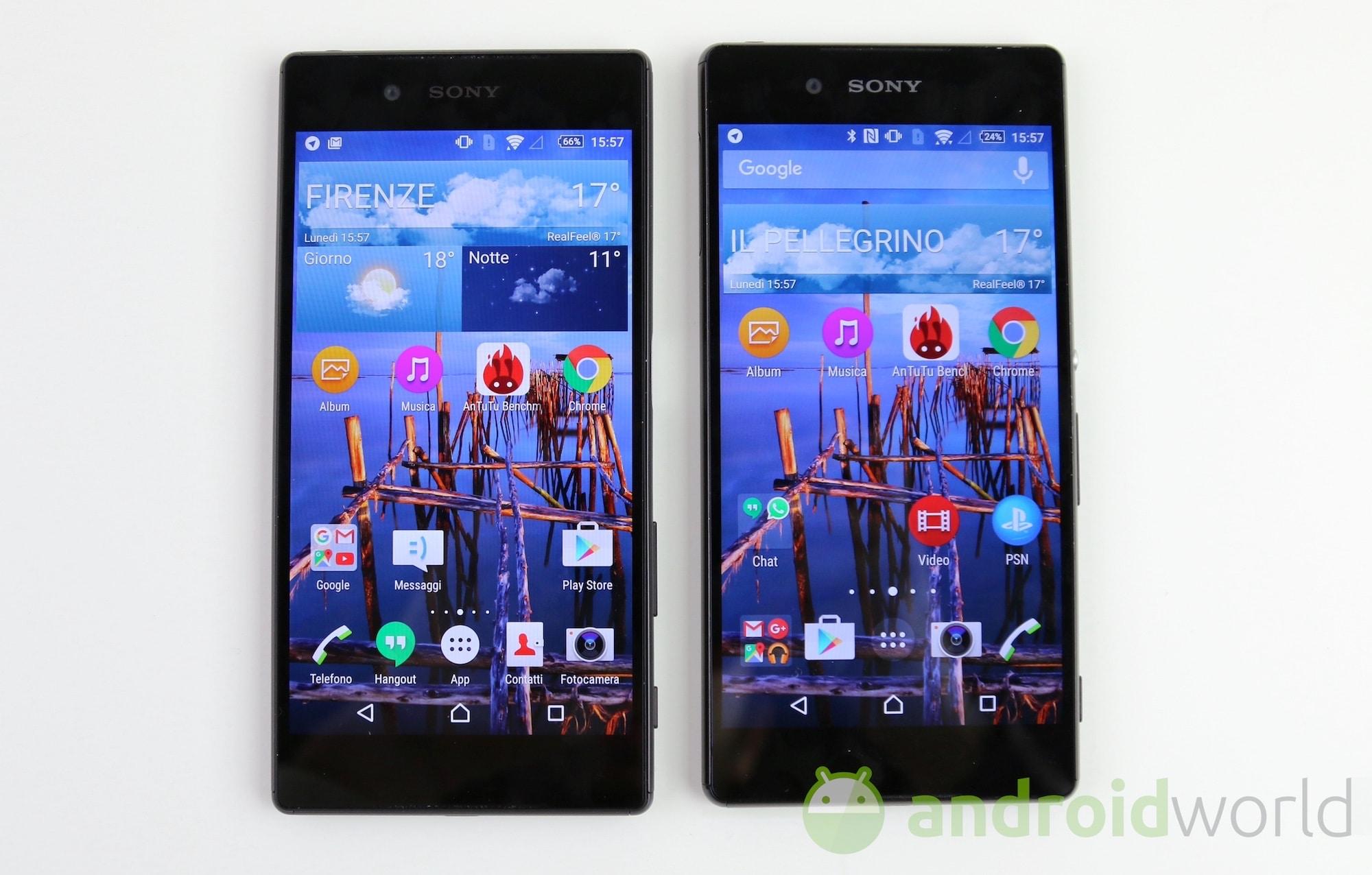Confronto Sony Xperia Z5 Z3+ – 1
